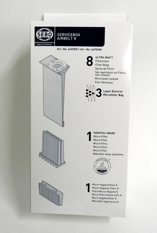 Aspirabec sac et filtre pour aspirateur sebo airbelt k for Aspirateur sebo